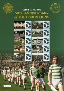 2017 - 50th Anniversary of the Lisbon Lions Celtic Smilers Stamp Sheet
