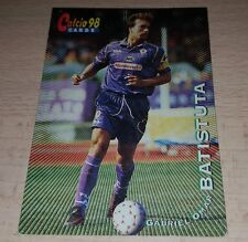 CARD CALCIATORI PANINI 98 FIORENTINA BATISTUTA CALCIO FOOTBALL SOCCER ALBUM