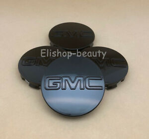 4Pc Gloss Black Center Wheel Center Hub Caps for GMC Sierra Denali Yukon 83MM