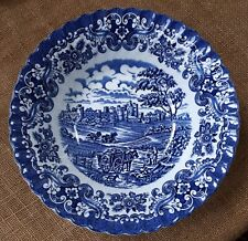 1960s Blue & White British Anchor Ironstone Olde Country Castles Bowl 230 mm dia