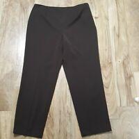 TALBOTS STRETCH PANTS FLAT FRONT PANT SZ 18 TROUSER DRESS SLACKS CURVY $78 NEW