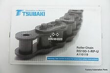 RS100 ANSI Standard Roller Chain 10Ft TSUBAKI NIB Japan 96Links 10feet/3.048m