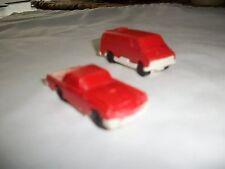Vintage 1950s  Plastic Toy Car T-bird and Chevy Van
