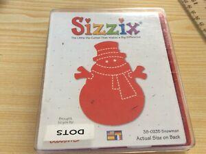"Sizzix Red die. 38-0235  SNOWMAN  5.5"" x 4.75"" USED. Box damaged."