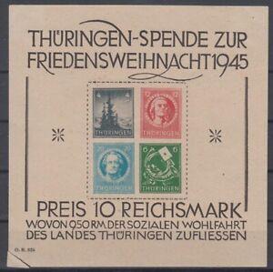 SBZ Thüringen - Block 2 ungestempelt - Mängel - ansehen!!!