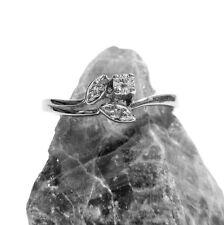 FANTASTICO ANELLO ORO GIALLO 54 (17,2 mm Ø ) 585/14 K Brillante 0,10ct Diamante