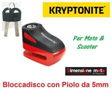 9533 - Bloccadisco KRYPTONITE KEEPER Rosso Piolo-5mm per Moto TM