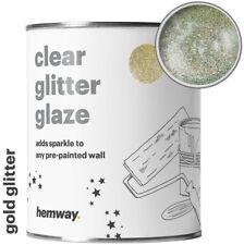 Hemway Chiaro Vernice Glitter Smalto Oro per pareti dipinte di pre-Carta da parati bagno