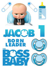 Personalized Boss Baby characters decoration ICING WAFER edible cake topper A4