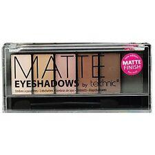 Technic Eyeshadow Pallette, Matte - Shades Black, Browns, Beige,Cream,Applicator