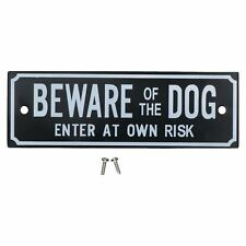 Beware Of The Dog Enter At Own Risk Home Gate Dog Warning Sign