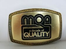 """MOA 1973-1983 - A Decade of Quality Belt Buckle (2.25"""" x 3.33"""")"""