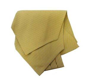 nuovo ASCOT seta stampata giallo righette azzurre YEL SILK MAN CASH COL Foulard