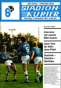II. BL 91/92 BSV Stahl Brandenburg - Fortuna Köln, 03.11.1991, Jens Pfahl