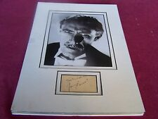 "Orig. Horror Movie Star - JOHN CARRADINE'S SIGNED "" Dracula "" Movie Photograph"