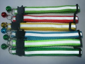 Reflective Cat Collar quick release Hi Vis job lot pack 6 kitten safety buckle