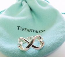 Tiffany & Co Sterling Silver Double Loving Heart Ring Size 5