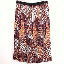 Trina Turk Womens Pleated Skirt size 8 Geometric Print Unlined Mid Calf Side Zip