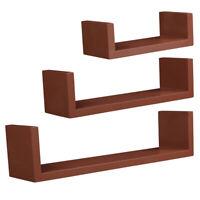 3Pcs MDF Floating Display Ledge Bookshelf Wall Mount Storage Shelves Home Decor