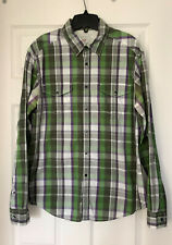ESPRIT PLAID GREEN MEN'S BUTTON DOWN SHIRT LONG SLEEVE URBAN FIT SZ M
