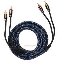 4.5m 2RCA Male to 2RCA Male Pure Copper Car Audio Signal Amplifier Video Cord