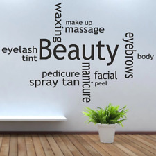 Beauty Salon make up Wall Stickers Art Decals Removable Vinyl Wallpaper