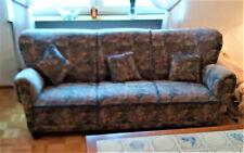 Altdeutsche Stil-Couchgarnitur 3+1+1 Sofa, 2 Sessel und 3 Kissen