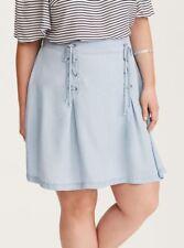 5af745e515414 Denim Lace Up Mini Skirt Plus Size 22 NWOT