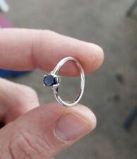 10 KARAT WHITE GOLD BLUE SAPHIRE RING
