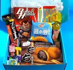 Mystery Manga & Asian Snack Box | Ramen • Mochi • Chips • Snacks & Drink