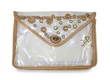 Hue & Ash Plastic Transparent Clear Clutch Bag Purse Handbag Women Ladies