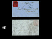 British Guiana 1856 provisional 4 ¢ magenta cut octagonally used in cover  , COP