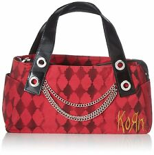 Korn Band Metal Chains Hand Bag Purse NWT  Red Spell out  Diamond Harlequin New