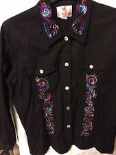 "Jacket by Quacker Factory with Sequins front/back  Dragonfly  42""-44"" Not lined"