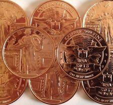 1 oz .999 Copper Standing Liberty. Coin USA. Ingot Bullion bars 1 Ounce AVDP.