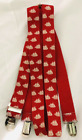 NEW Old Spice Cologne Promo Suspenders and Bowtie Red with White Nautica Theme