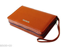TECSUN PL-880 Original Zipper Pouch for Radio  << LIGHT BROWN >>