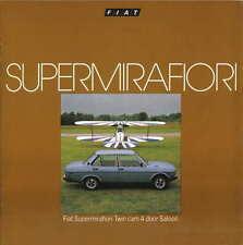 Fiat 131 Supermirafiori 1600 TC Saloon 1978-79 Original UK Sales Brochure
