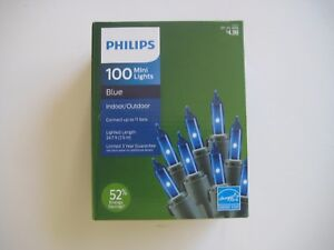 PHILIPS 100 Mini Lights Red/Blue/Clear/Green Indoor/Outdoor 24.7 ft. $4.99
