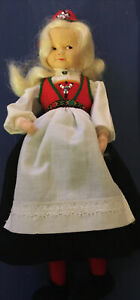 1930s Norwegian Ronnaug Petterssen Norske Dukker Felt Doll Blonde  7 in