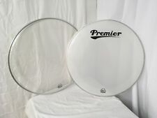 """Premier Supersonic 24"""" Diameter Bass Drum Heads/Includes Batter &  Reso Sides"""