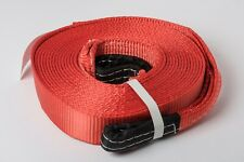 "Red 2""x30' 20000lb 9 Ton 2x30ft SUV Truck Tow Strap winch rope off-road recovery"