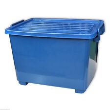1x Caisse de rangement 18 L à roulettes couvercle, bleu, stockage (1x22254)