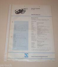 Typenblatt / Technische Daten Motor - Sachs 504/2 A - Stand 1972!