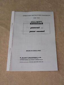 Elliott Juniormil & Junior Omnimil Machine Manual