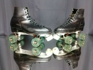 (Men's 10) 1960's Betty Lytle by HYDE Roller Skates Fo-Mac Wheels Chicago Plates