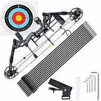 20-70lbs Pro Compound Right Hand Bow Arrow Kit Archery Target Practice Hunting