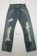 Levi's 501 (Cod. J160) Tg42 W28 L34 jeans usato personalizado vintage