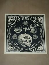 Shepard Fairey Hand of Doom album cover Obey Giant  signed poster print Banksy