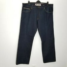 Artful Dodger Mens Selvedge Jeans 42 x35 Dark Wash 100% Cotton Relaxed Straight